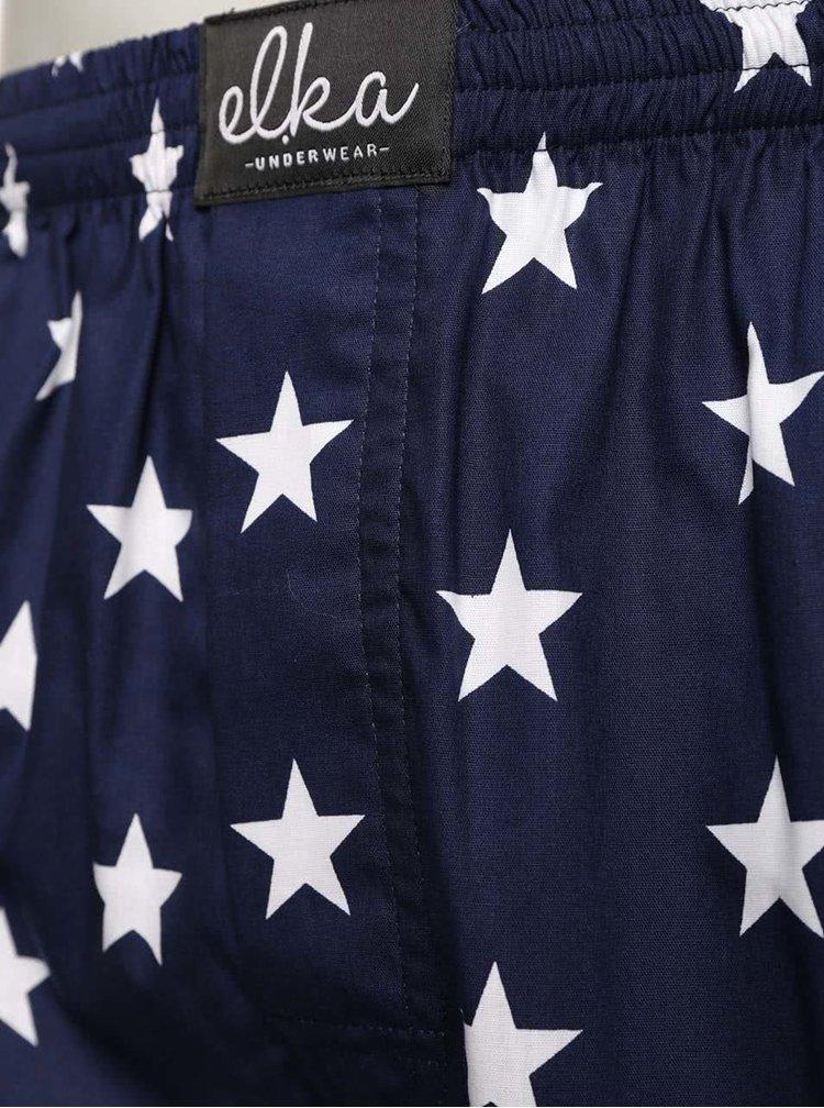Tmavomodré pánske trenírky s motívom hviezd El.Ka Underwear