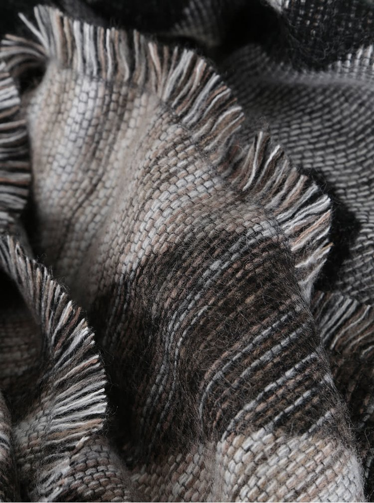 Hnedo-krémový vzorovaný šál Dorothy Perkins