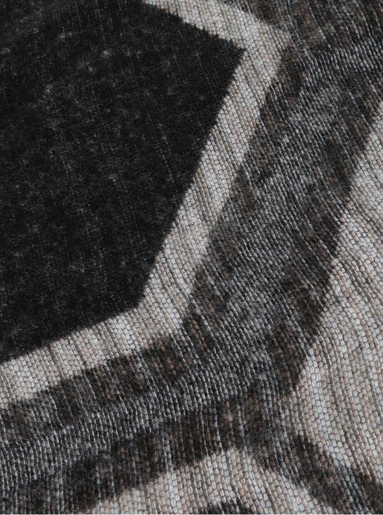 Hnědo-krémová vzorovaná šála Dorothy Perkins