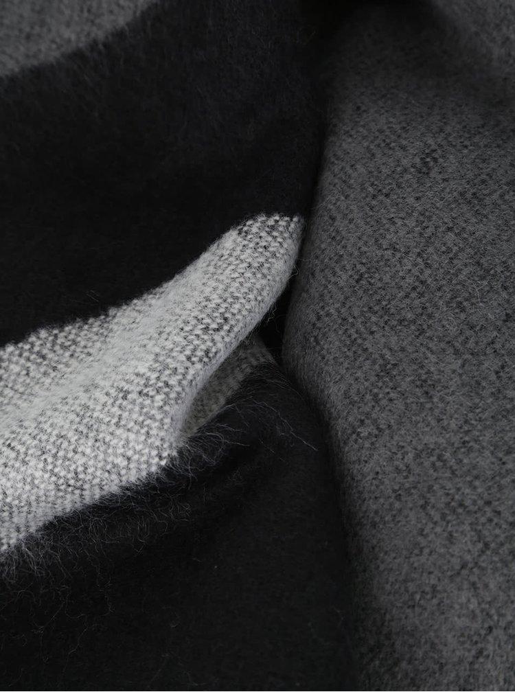 Krémovo-šedá šála s třásněmi Dorothy Perkins