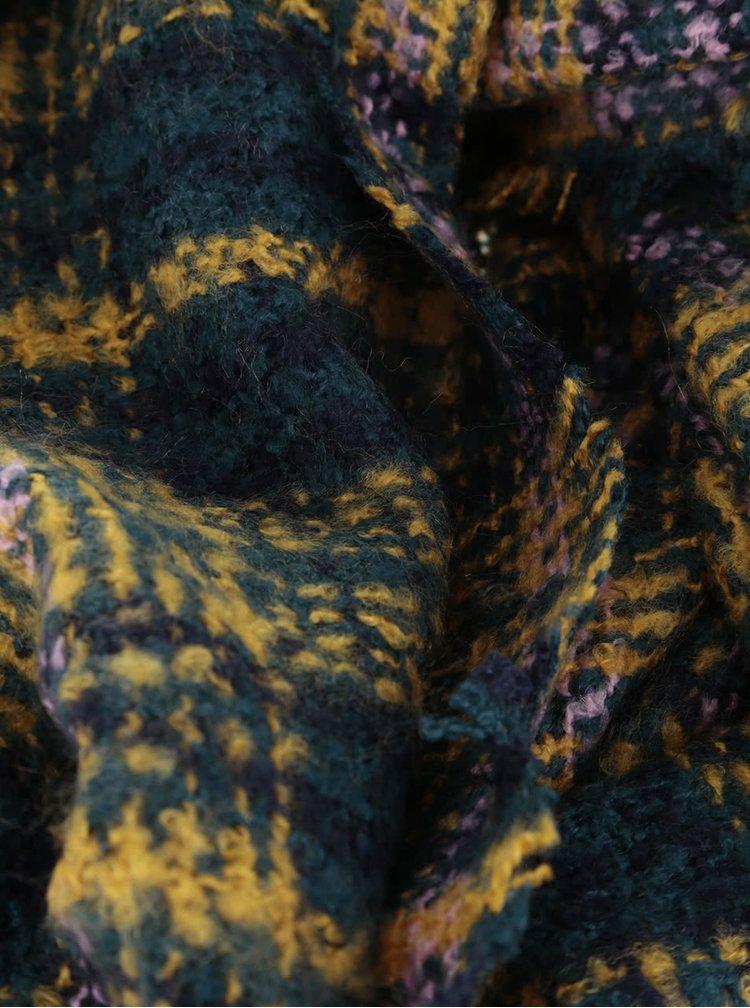 Zeleno-žlutá kostkovaná šála Dorothy Perkins