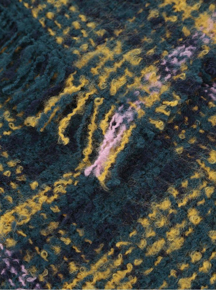Zeleno-žltý kockovaný šál Dorothy Perkins