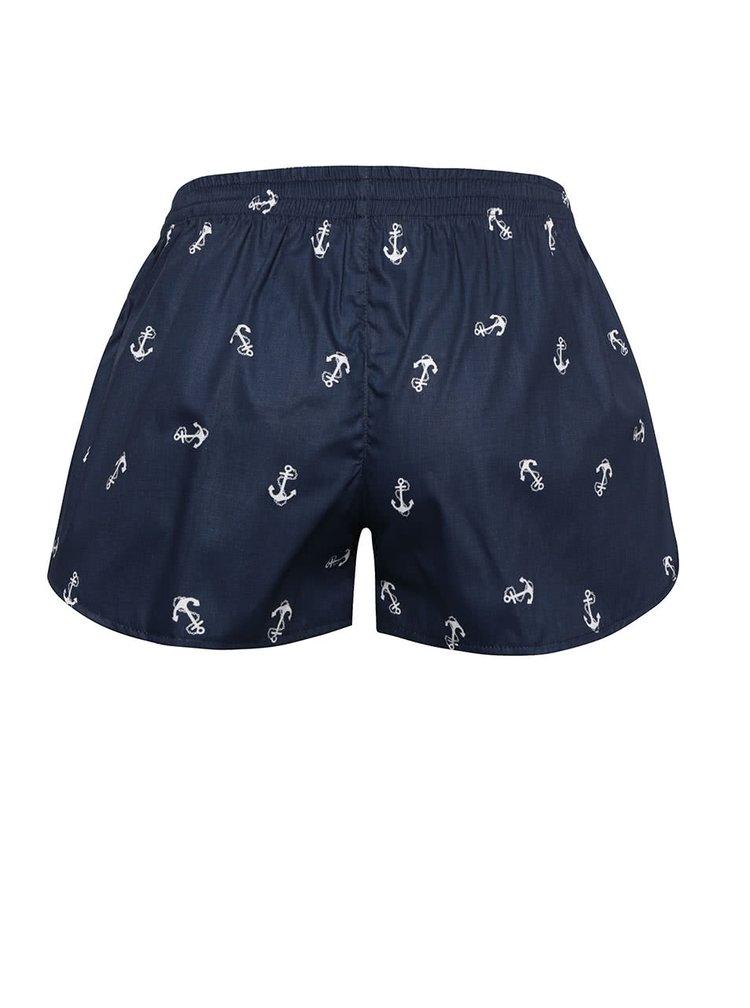 Boxeri de damă albaștri El.Ka Underwear cu model