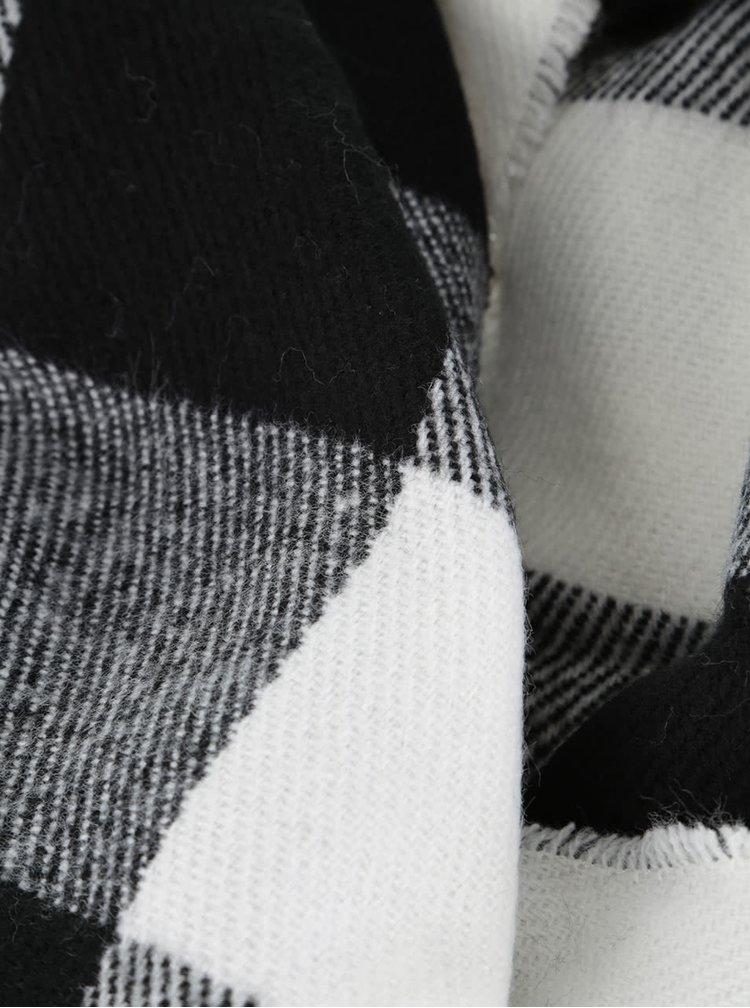 Krémovo-černá kostkovaná šála s třásněmi Dorothy Perkins