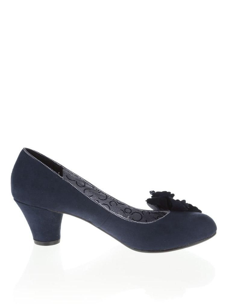 Pantofi bleumarin Ruby Shoo Samira cu accesoriu