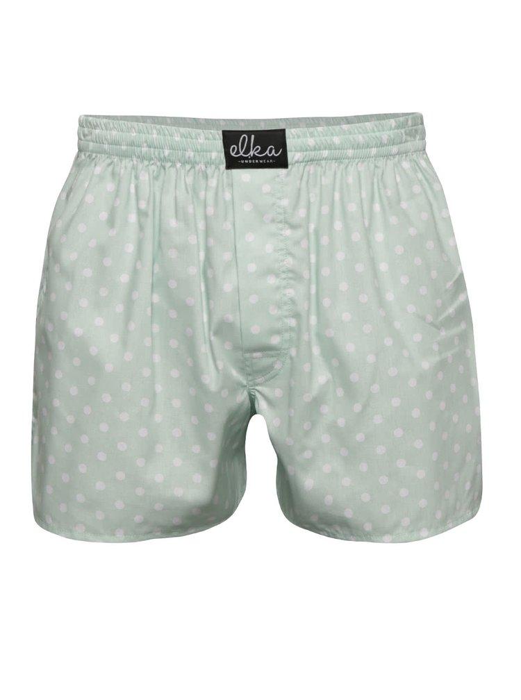 Mentolové pánske bodkované trenírky El.Ka Underwear