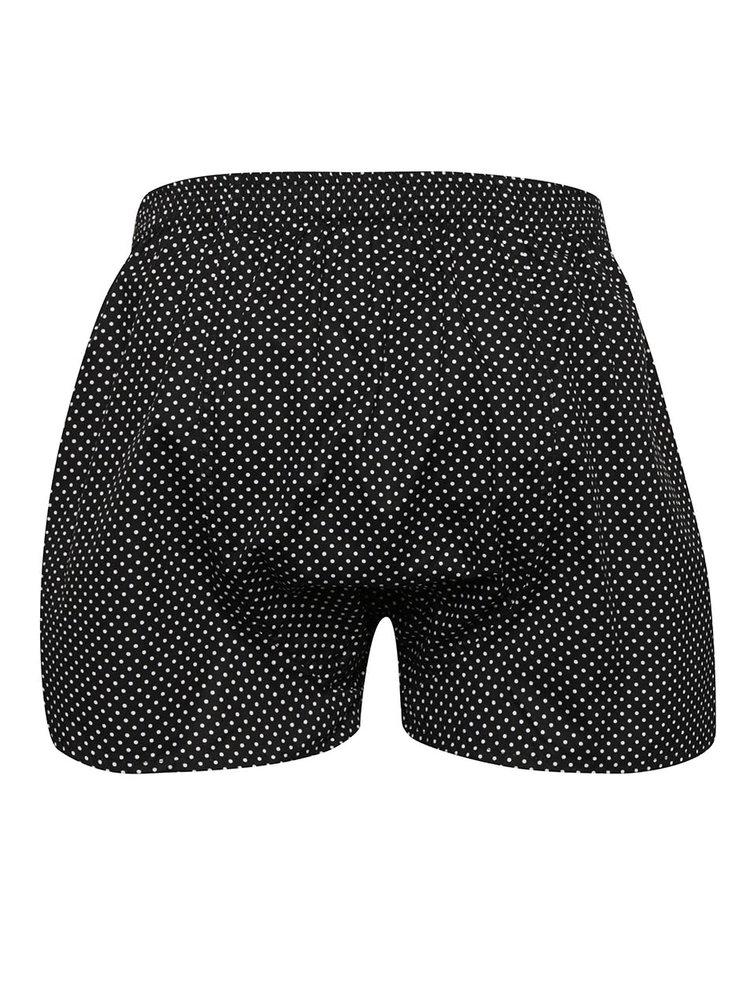 Čierne pánske bodkované trenírky El.Ka Underwear