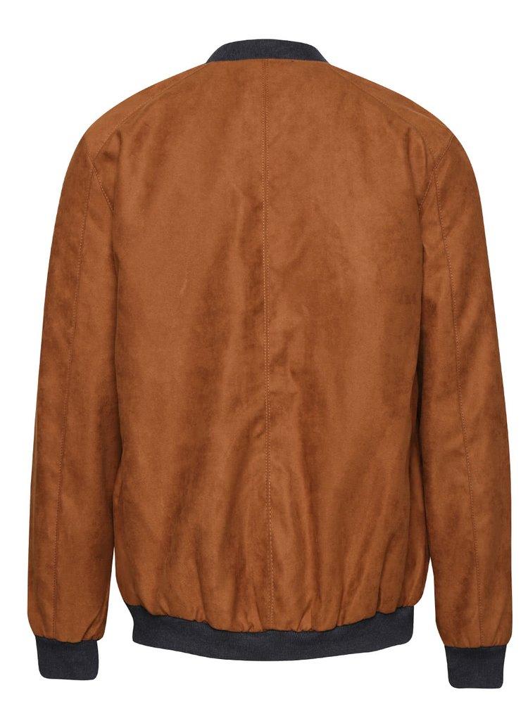 Jachetă bomber maro Burton Menswear London