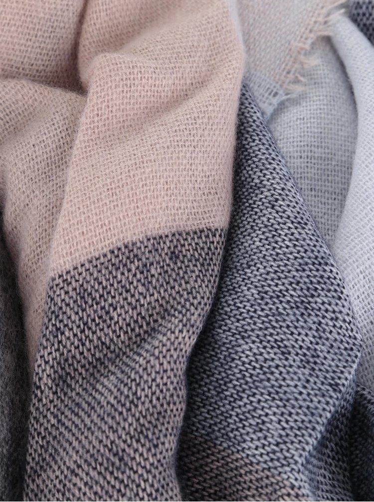 Ružovo-modrý ľahký šál s drobnými strapcami Dorothy Perkins