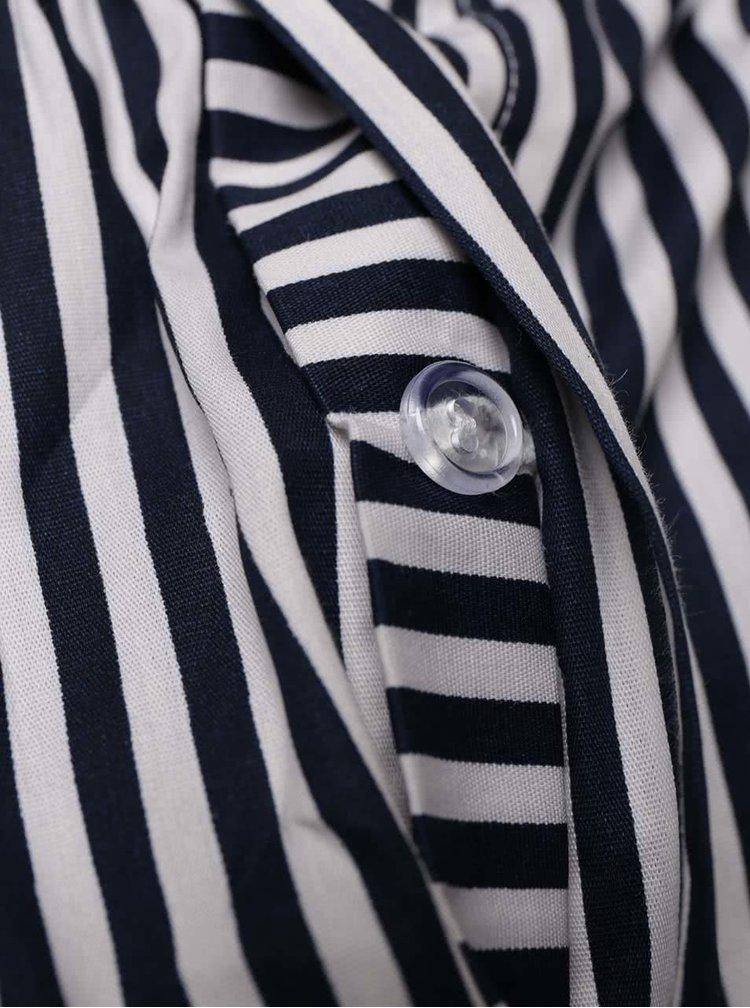 Bielo-modré pánske pruhované trenírky El.Ka Underwear