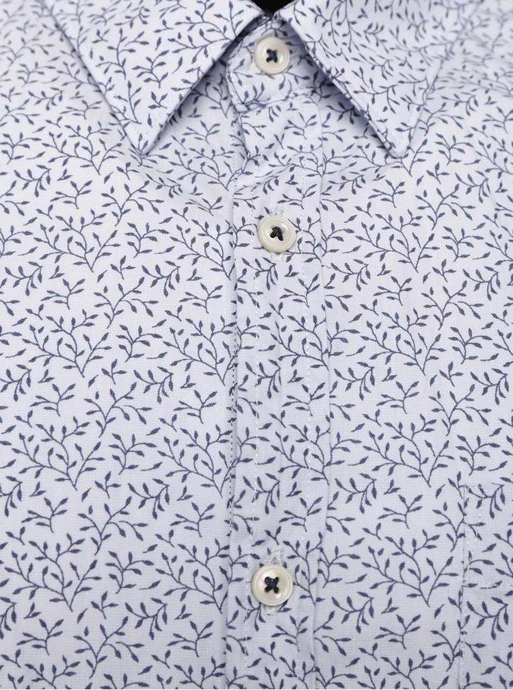 Světle modrá košile s květovaným vzorem Burton Menswear London