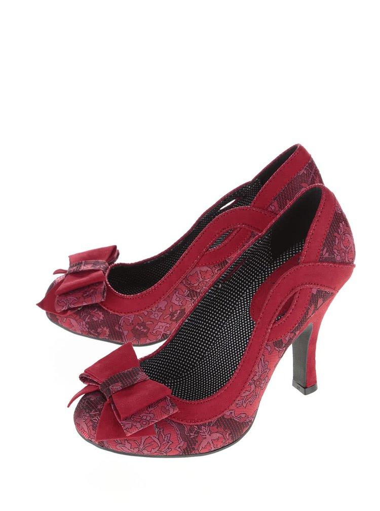 Pantofi roșii Ruby Shoo Ivy cu model