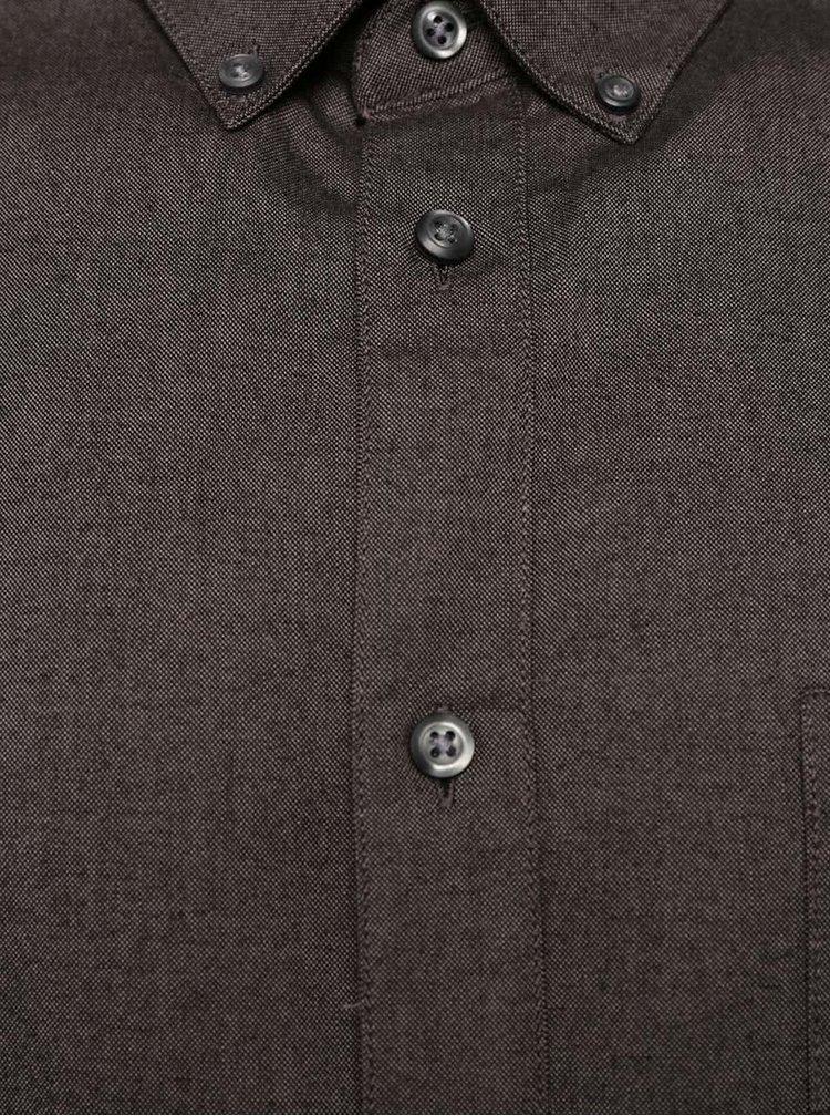 Tmavosivá košeľa Burton Menswear London