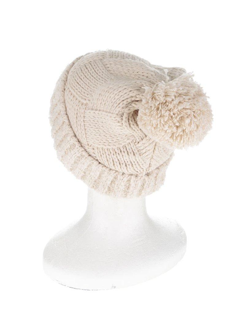 Krémová čiapka s brmbolcom Dorothy Perkins