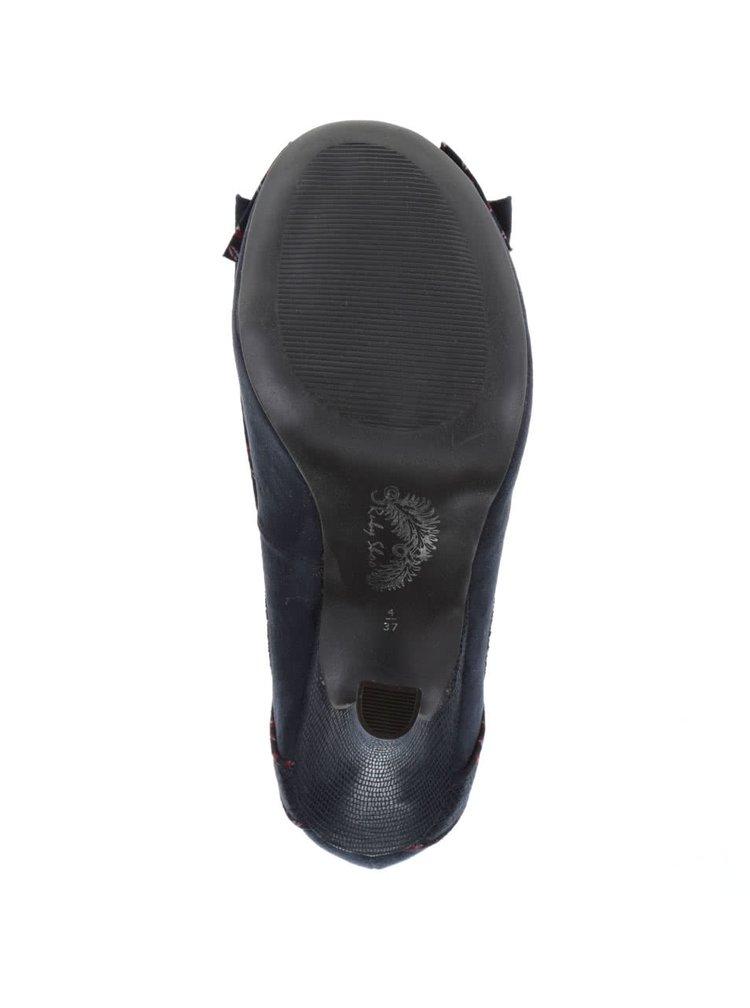 Pantofi albastru ultramarin Ruby Shoo Ivy cu model