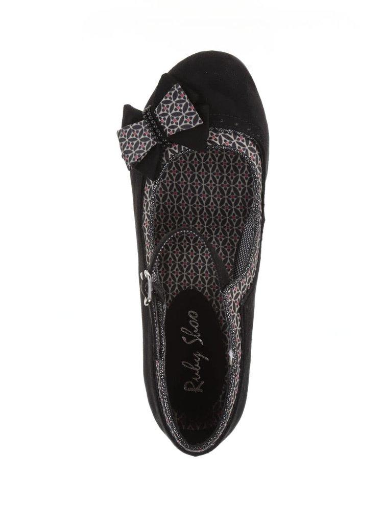 Pantofi negri Ruby Shoo Georgia cu fundă