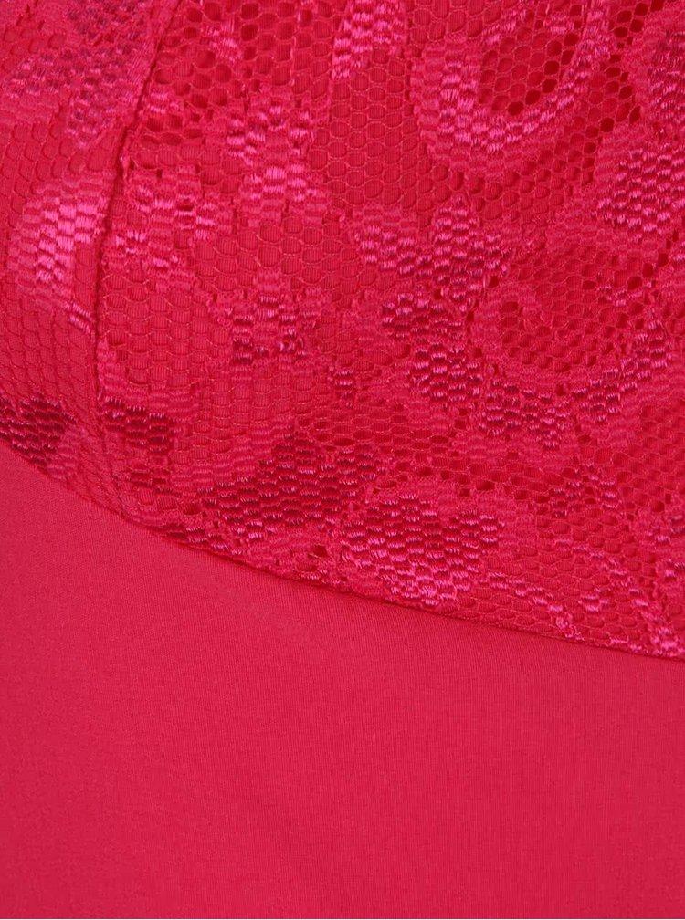 Tmavoružové puzdrové šaty so stojačikom Dorothy Perkins