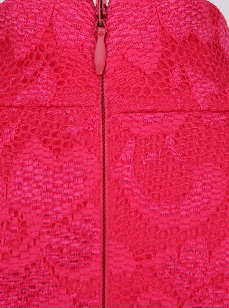 Tmavě růžové pouzdrové šaty se stojáčkem Dorothy Perkins