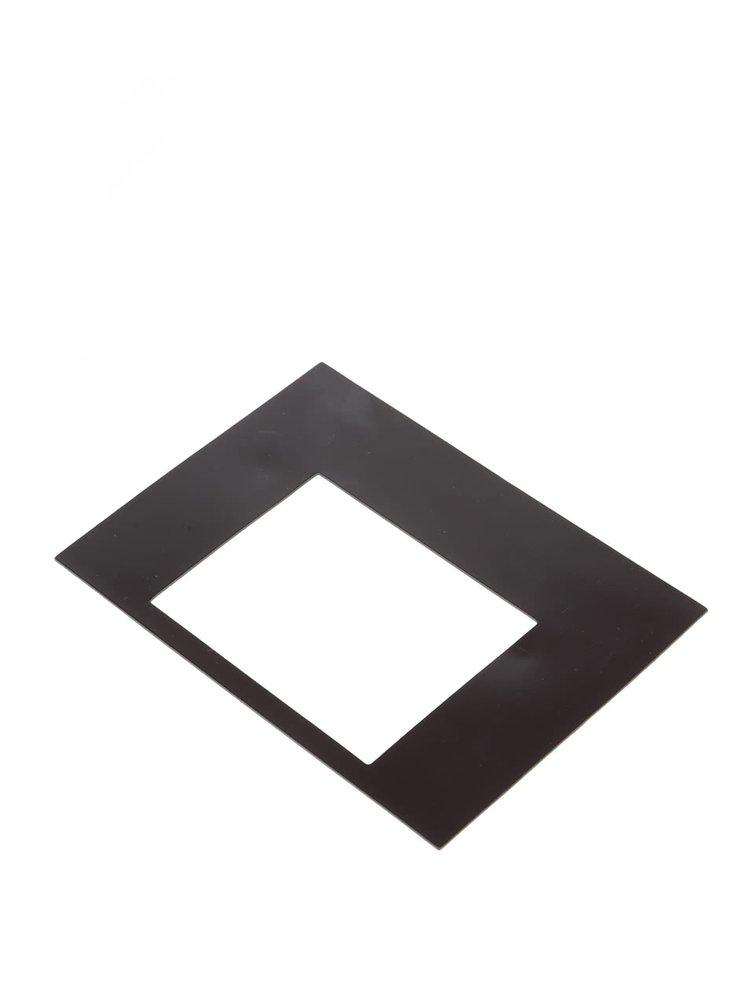 Černo-bílý magnet na lednici ve tvaru rámečku Donkey Daily Hero