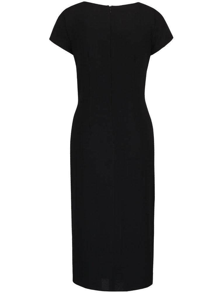 Čierne šaty s uzlíkom Dorothy Perkins