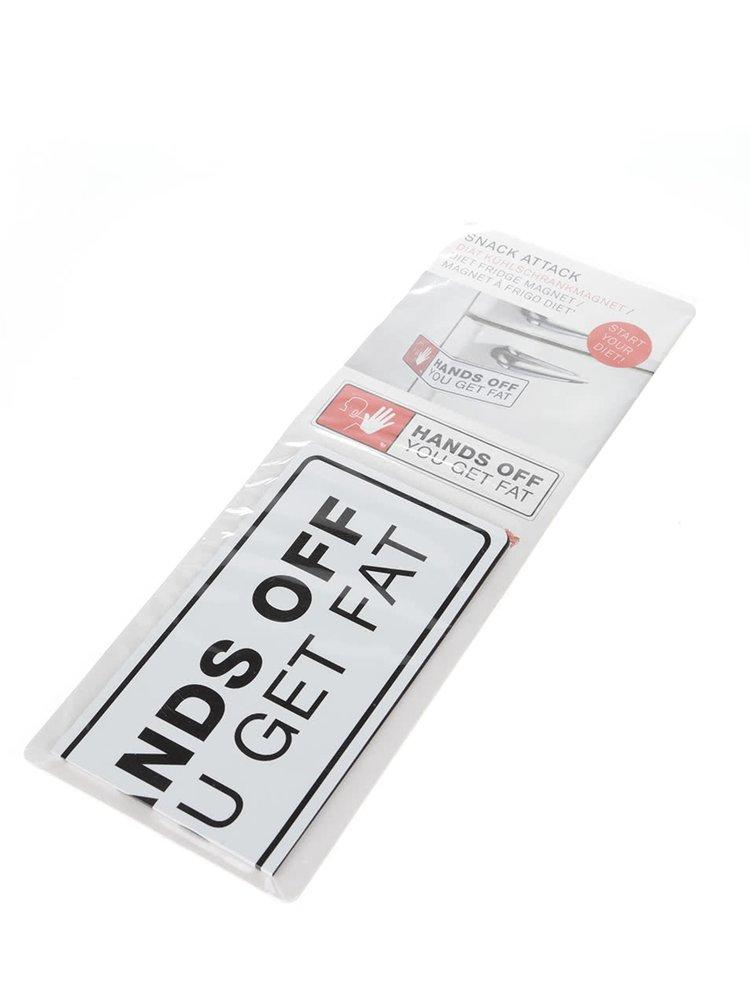 Černo-bílý magnet na lednici Donkey Hands Off