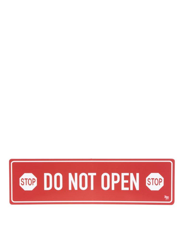 Magneți de frigider roșu & alb Donkey Do Not Open