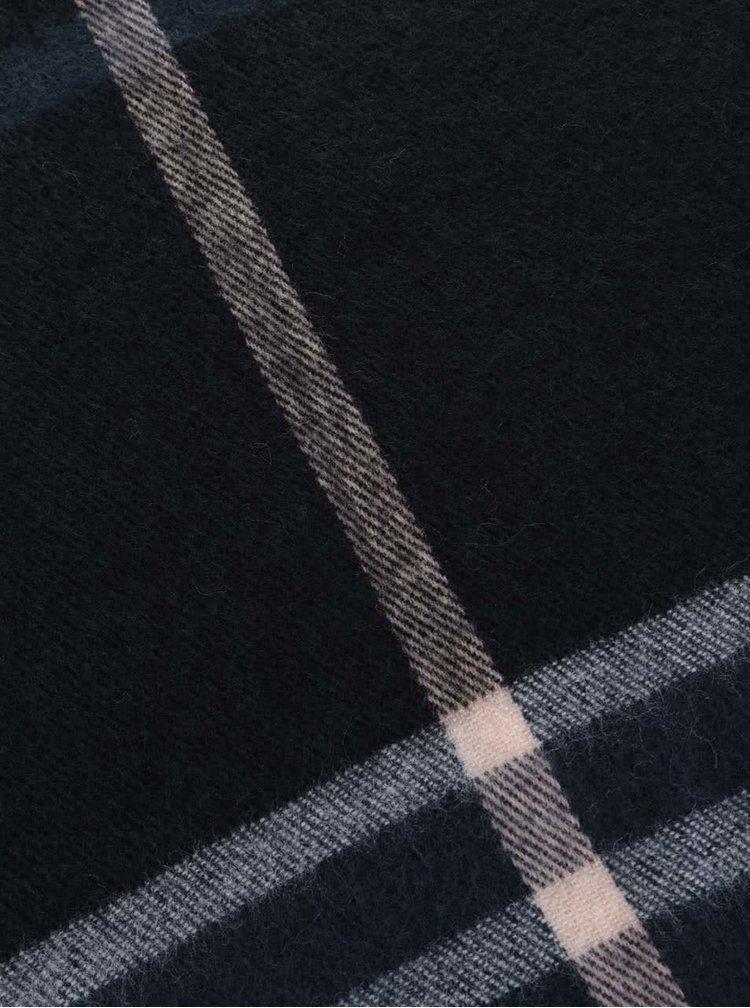 Tmavomodrý vzorovaný šál Miss Selfridge