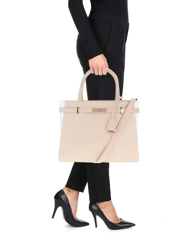 Krémovo-béžová koženková menší kabelka Dorothy Perkins