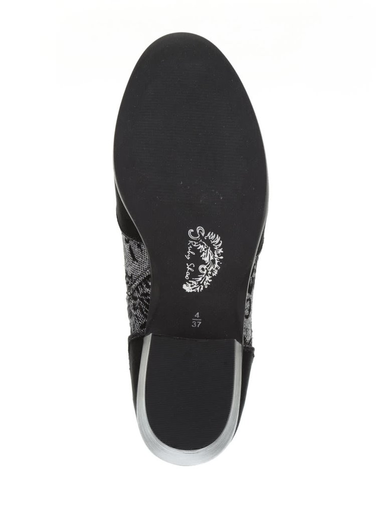 Černé kotníkové boty s dekorem Ruby Shoo Juliette