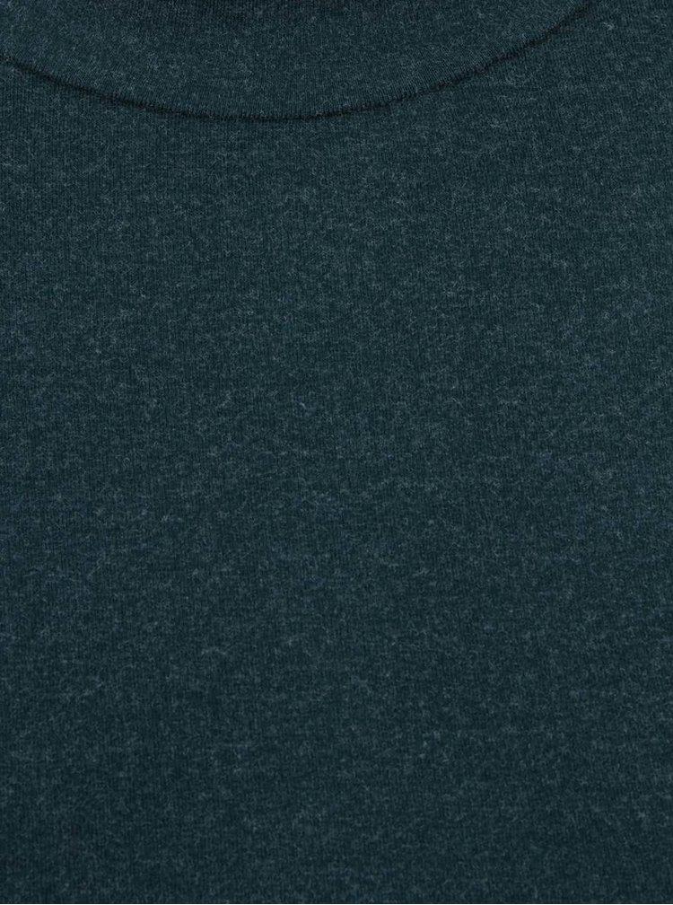 Tmavě zelené tričko se stojáčkem a dlouhým rukávem Dorothy Perkins