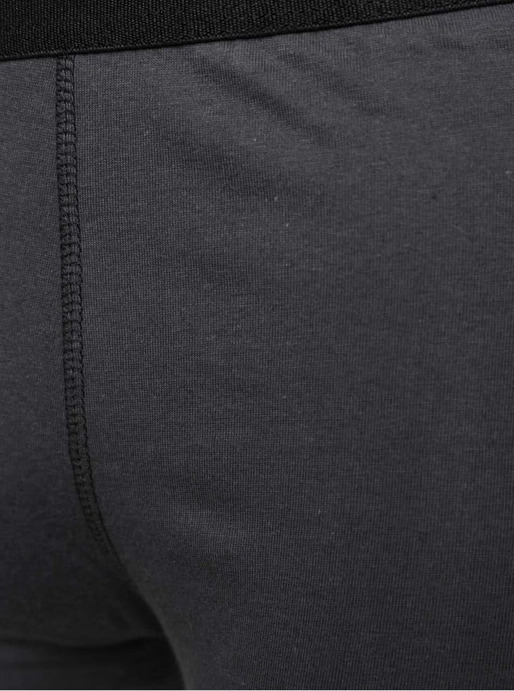 Sada dvou boxerek v černé a tmavě šedé barvě Marginal