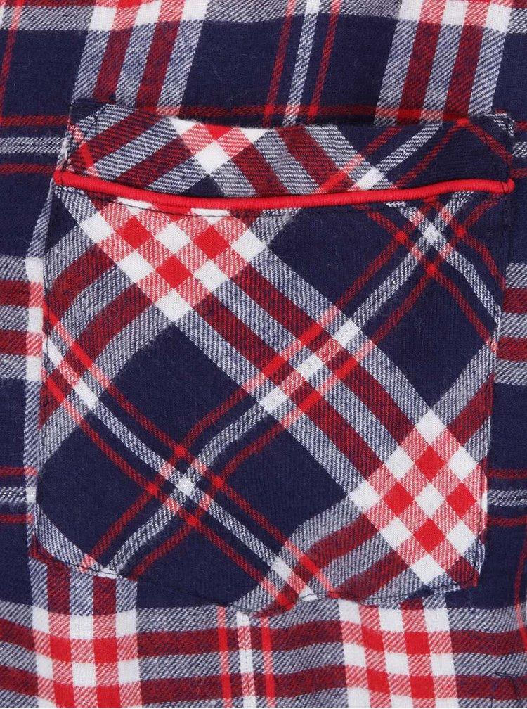 Červeno-modrá kostkovaná noční košile Dorothy Perkins