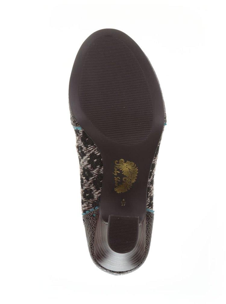 Hnědé boty se šněrováním Ruby Shoo Daisy