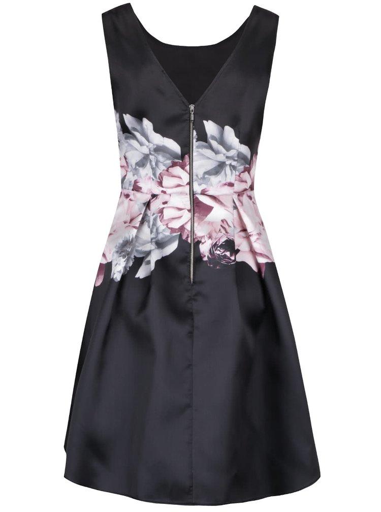 Černé šaty s růžovými květy Dorothy Perkins