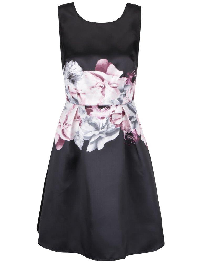 Čierne šaty s ružovými kvetmi Dorothy Perkins