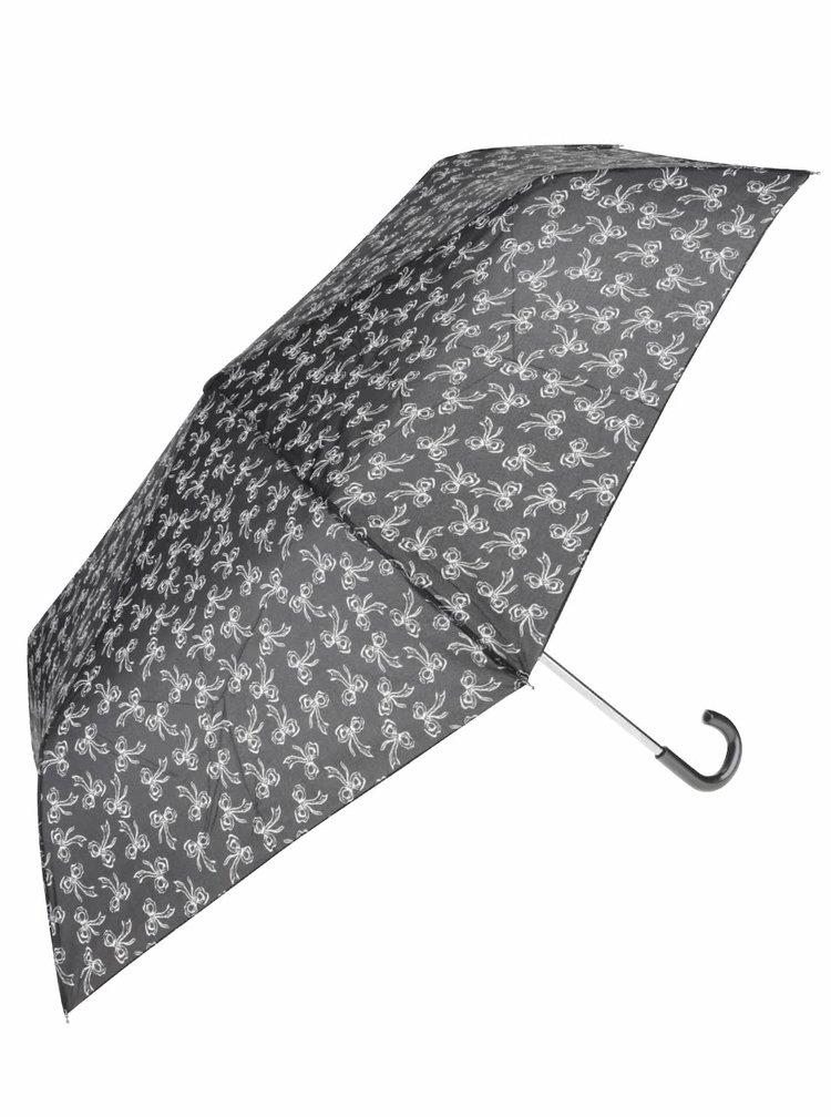Šedý deštník se vzorem mašliček Dorothy Perkins