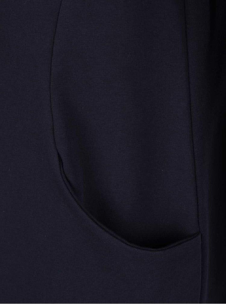 Tmavě modré volné šaty s kapsami a dlouhými rukávy ZOOT