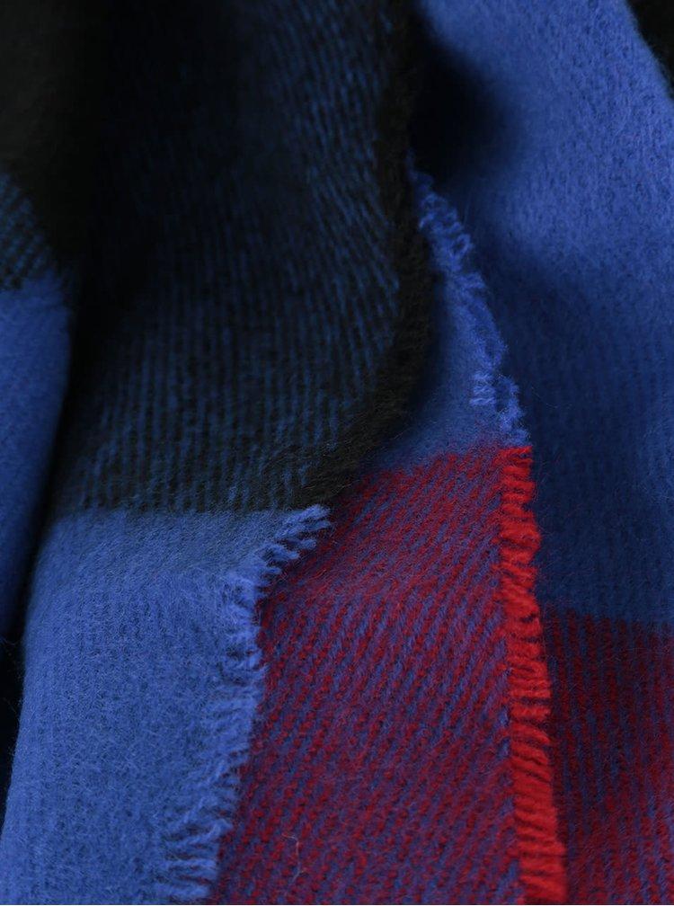 Červeno-modrá kostkovaná šála Dorothy Perkins