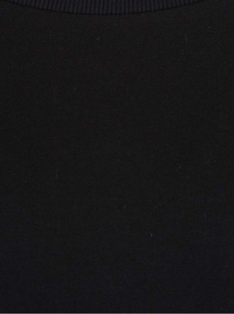 Čierne šaty s 3/4 rukávmi ZOOT