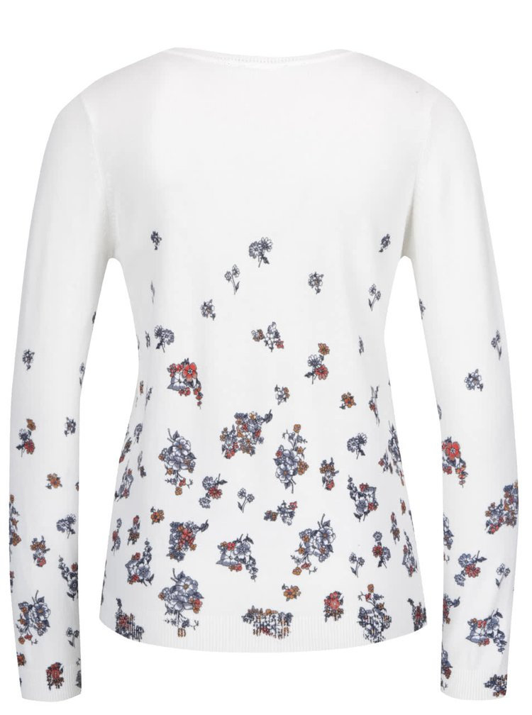 Krémový sveter s kvetmi Dorothy Perkins