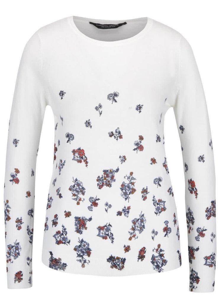 Krémový svetr s květy Dorothy Perkins