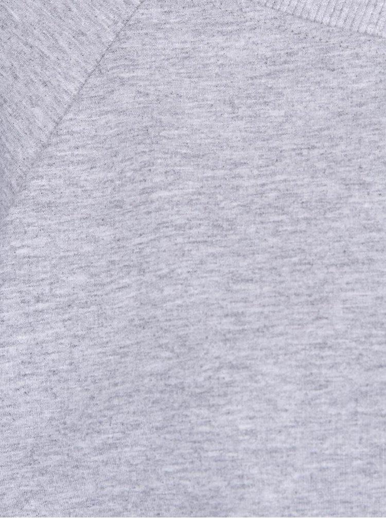 Světle šedá kratší volnější mikina ZOOT