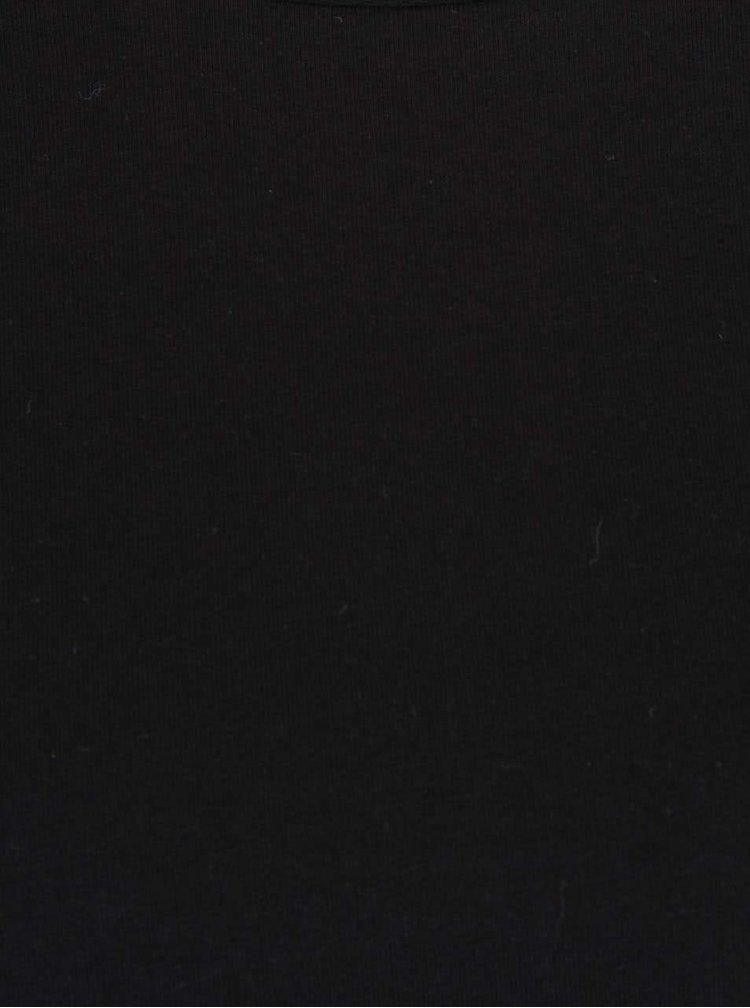 Čierna voľnejšia mikina s dlhým rukávom ZOOT
