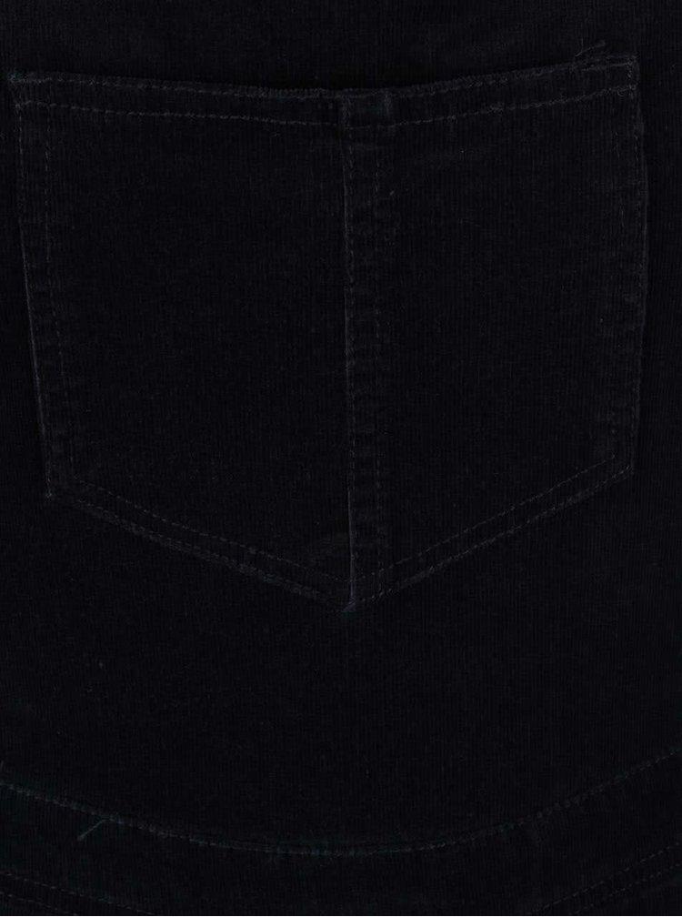 Tmavě modré 3/4 manšestrové lacláče Dorothy Perkins
