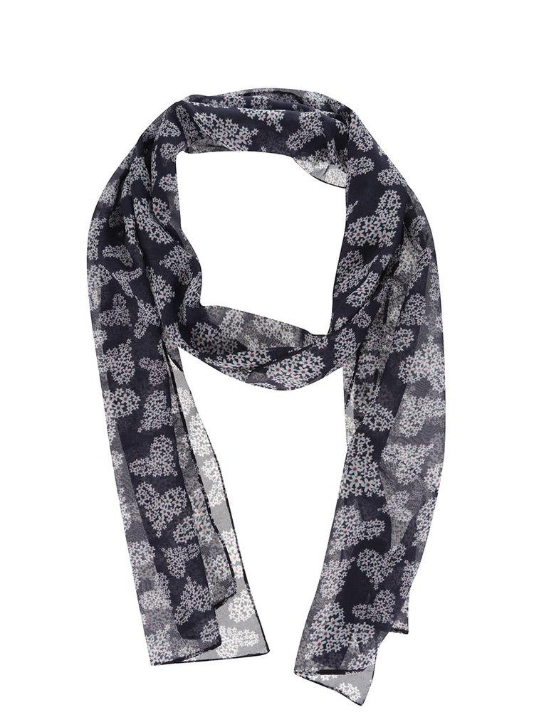 Tmavě modrý šátek se srdíčky z květin Dorothy Perkins