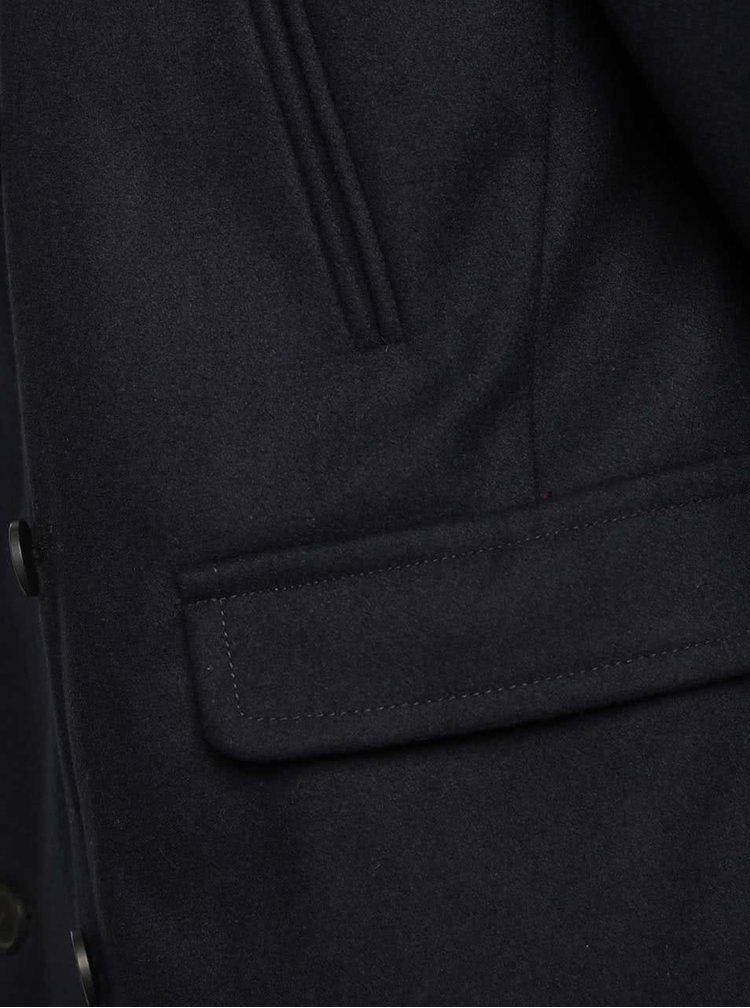Tmavě modrý krátký kabát s příměsí vlny Jack & Jones Tiverton