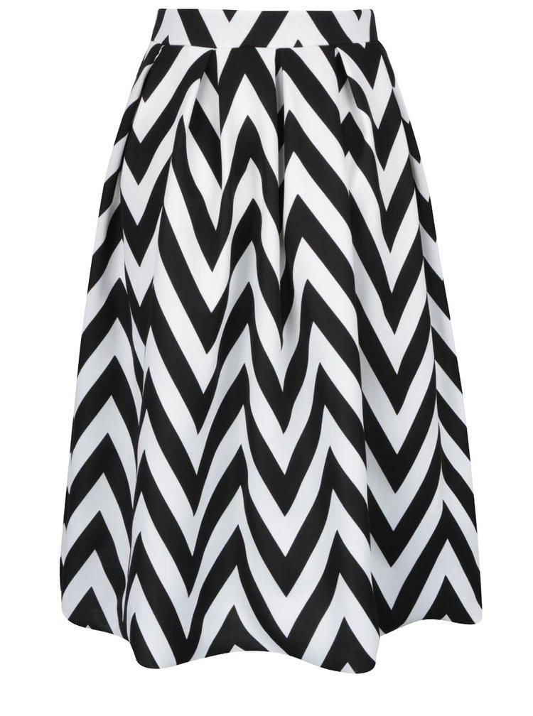 Krémovo-čierna vzorovaná áčková sukňa Dorothy Perkins