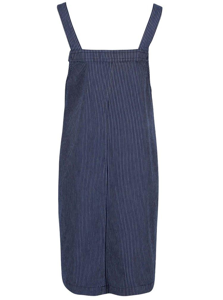 Modré tehotenské pruhované trakové šaty Dorothy Perkins Maternity