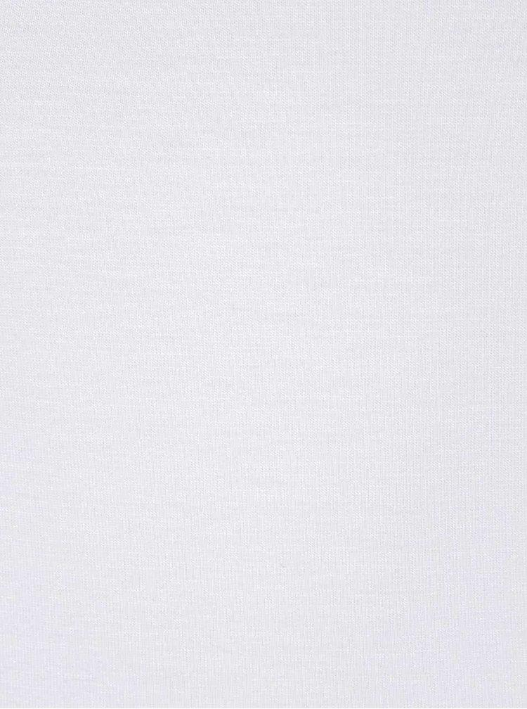 Krémové asymetrické tričko s odhaleným ramenem Noisy May Fame