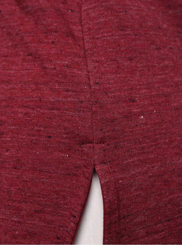Vínové tričko s vreckom TALLY WEiJL